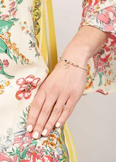 Amazonite Gemstone Heart Bracelet