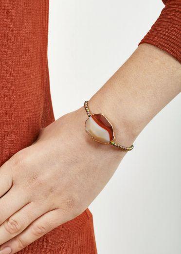 Blush Pyrite & Agate Bracelet