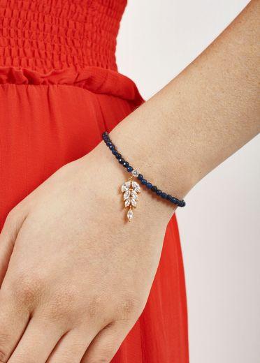 Royal Navy Agate Crystal Leaf Bracelet
