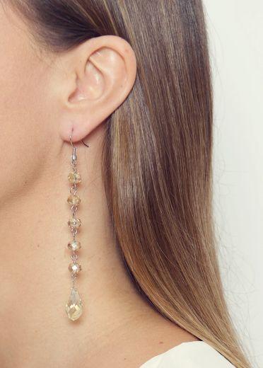 Champage Long Drop Earrings