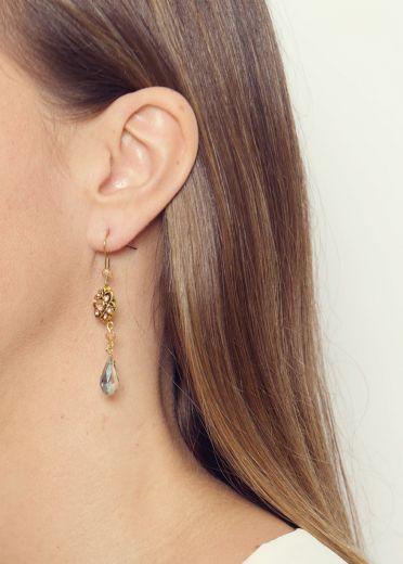 Peach blossom Vintage Earrings