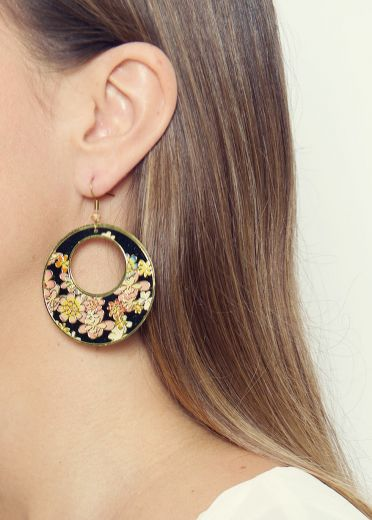 Night Flower Hoops