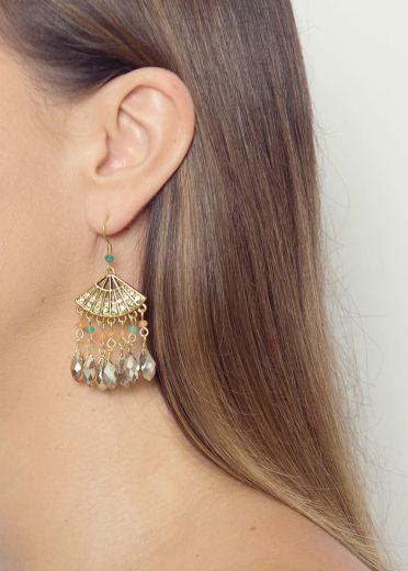 Peach Blossom Fan Earrings
