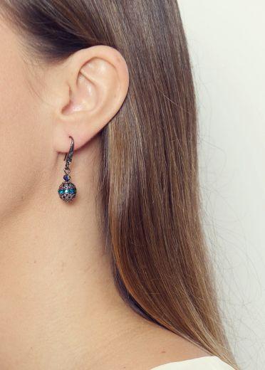Rainbow Sphere Earrings