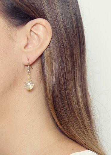 Crystal Sphere Earrings