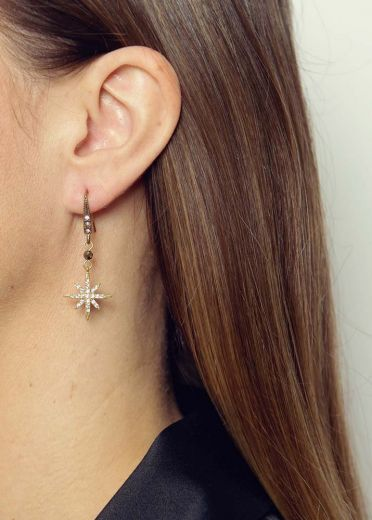 Pyrite Star Earrings