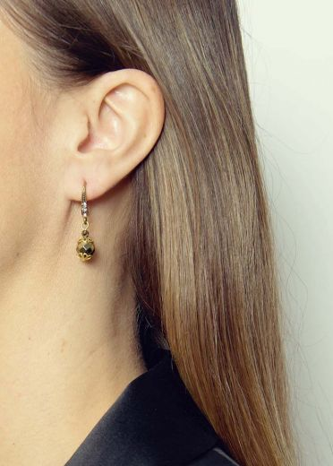 Pyrite Bead Earrings