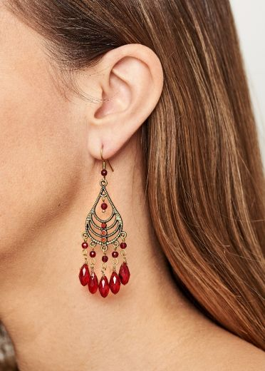Ruby Chandalier Earrings