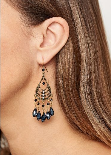Cafe Noir Gold Chandalier Earrings