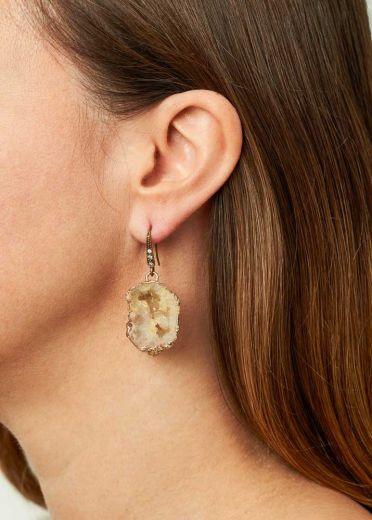 Agate Crystal Earrings