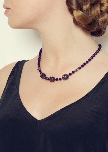 Amethyst vintage necklace