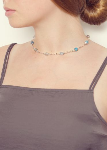 Azure Agate Chain Necklace