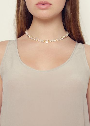 Dove Crystal Agate Necklace