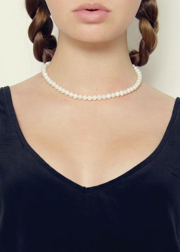 Ivory Pearl and Gold Necklace