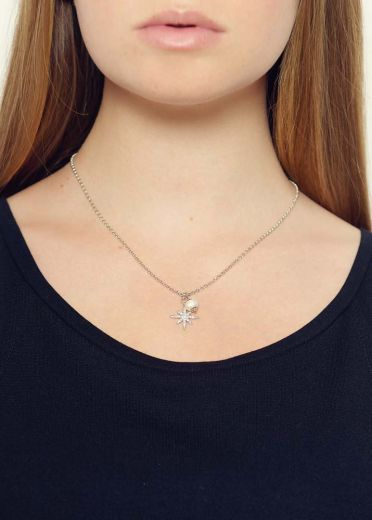 Freshwater Pearl Star Chain Necklace