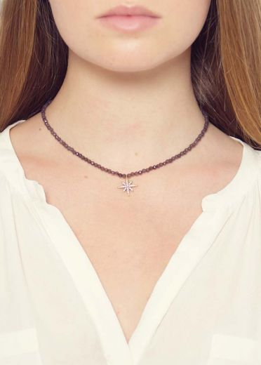 Dove Agate Star Necklace