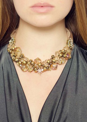 Pyrite Star Statement Necklace