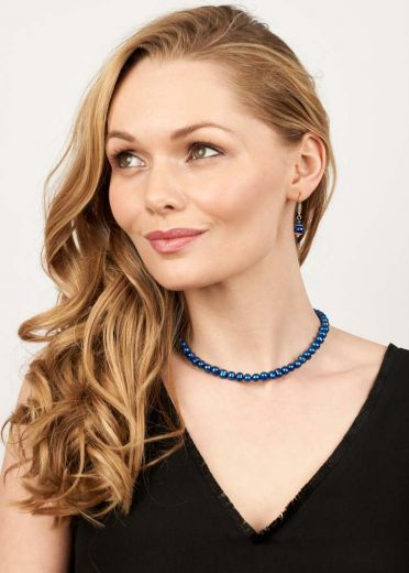 Cobalt Blue Freshwater Pearl Necklace