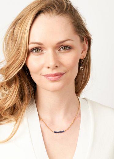 Cobalt Blue Freshwater Pearl Bar Necklace