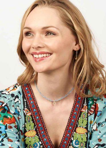 Sky Heart Gemstone Necklace
