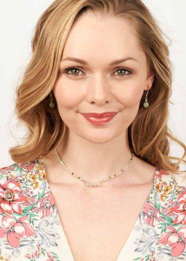 Amazonite Gemstone Love Necklace