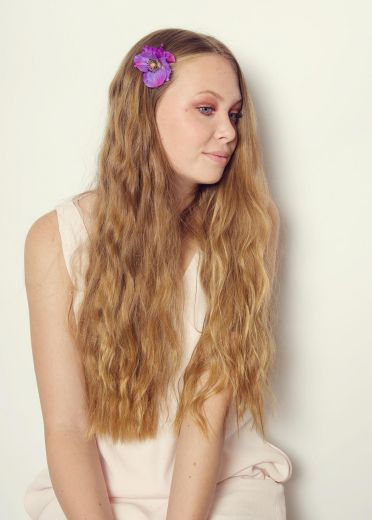 Purple Poppies Hairclip & Brooch