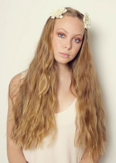 Pair Of Cream Flower Hairslides