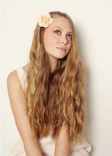 Peach Rose Hairclip & Brooch