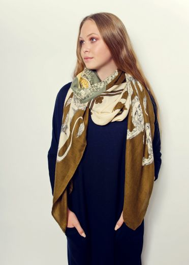 Heritage Moss Crest Scarf
