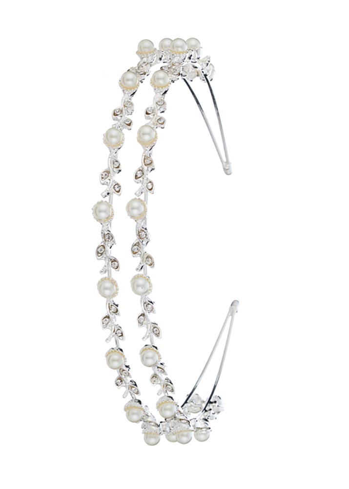 Silver Pearl Hairband