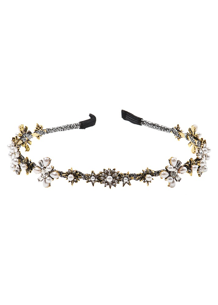 Crystal and Pearl Star Hairband