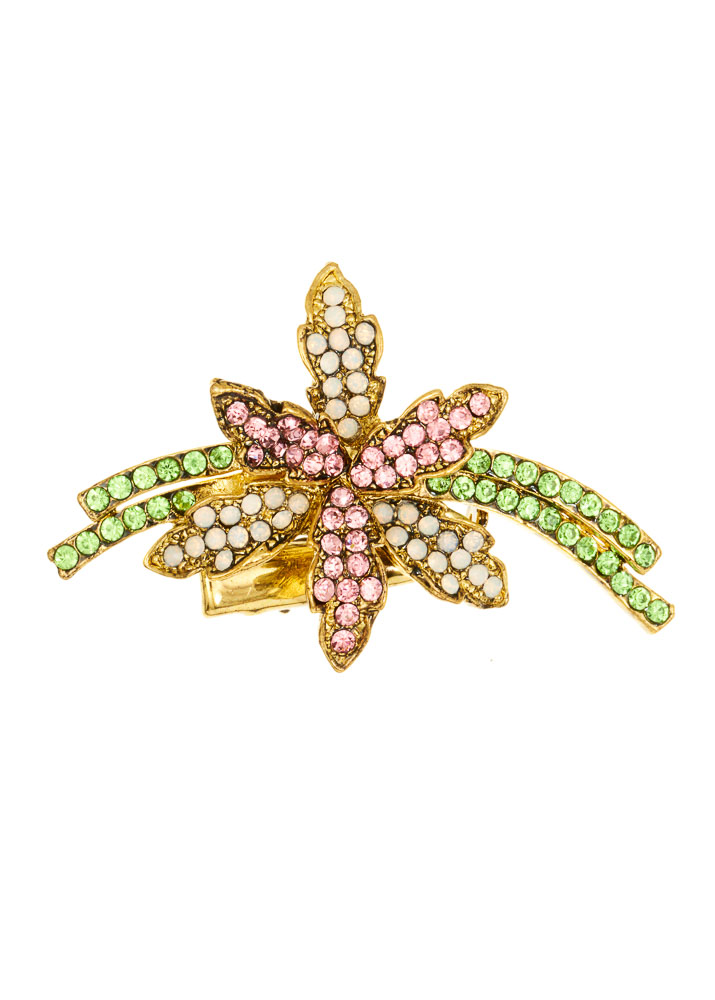 Pastel Crystal Spray Hairclip & Brooch
