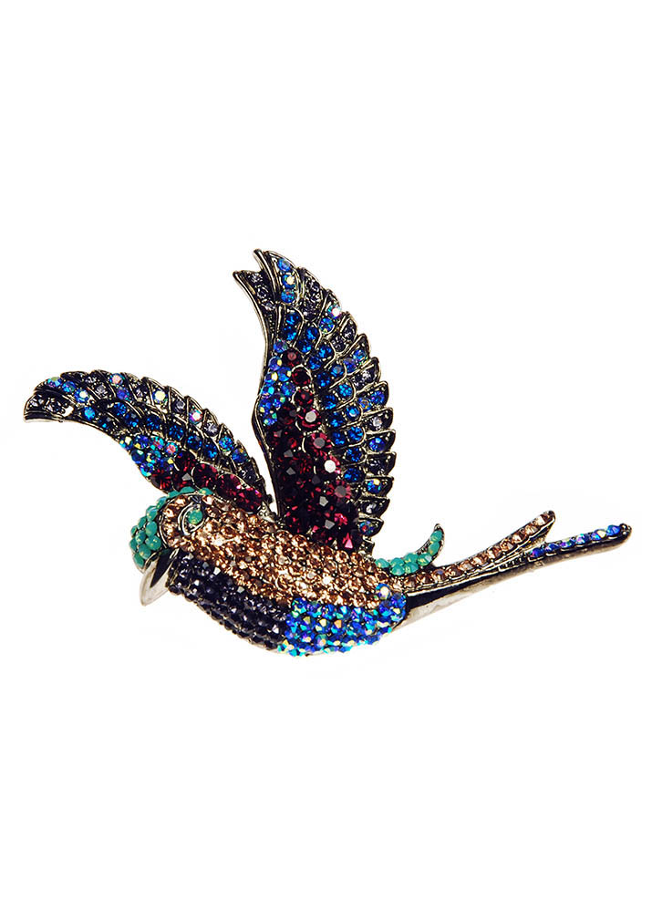 Electric Hummingbird Hairclip & Brooch