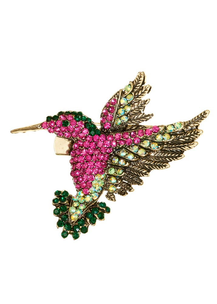 Forest Hummingbird Hairclip & Brooch