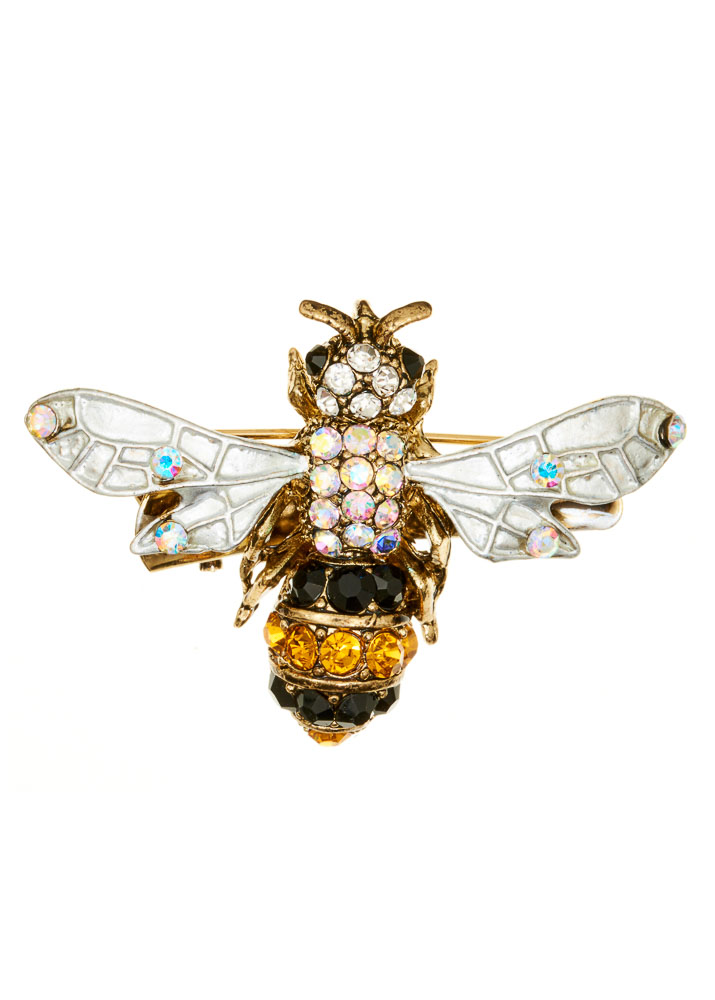 Buzzy Bee Hairclip & Brooch
