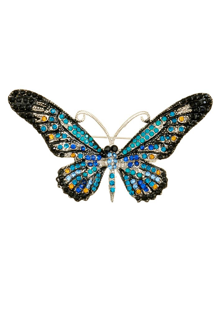 Ocean Crystal Butterfly Hairclip & Brooch
