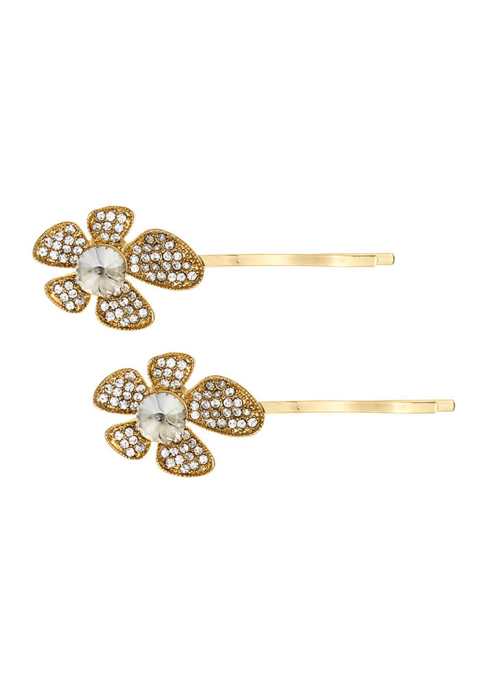 Gold Lily Hairslides