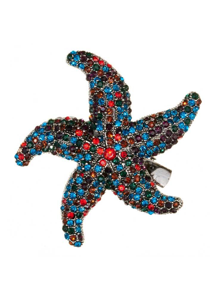 Rainbow Starfish Hairclip & Brooch