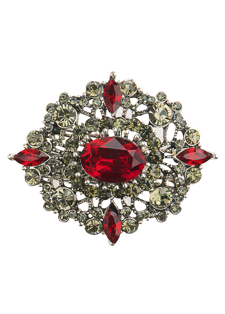 Edwardian Ruby Brooch & Hairclip