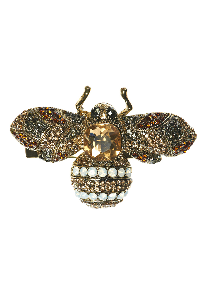Gold Opal Bug Hairclip and Brooch