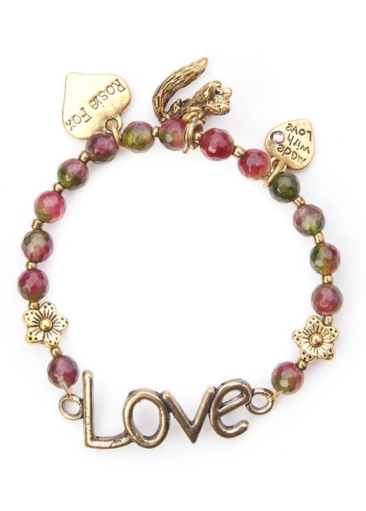 Natural tourmaline love bracelet