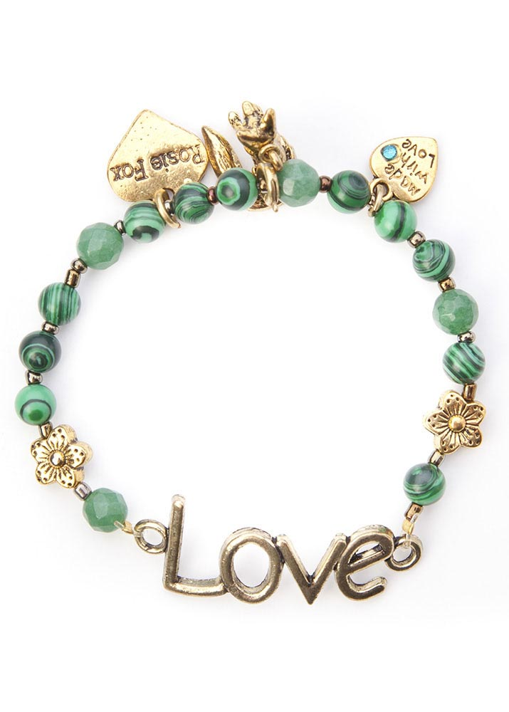 Malachite love bracelet