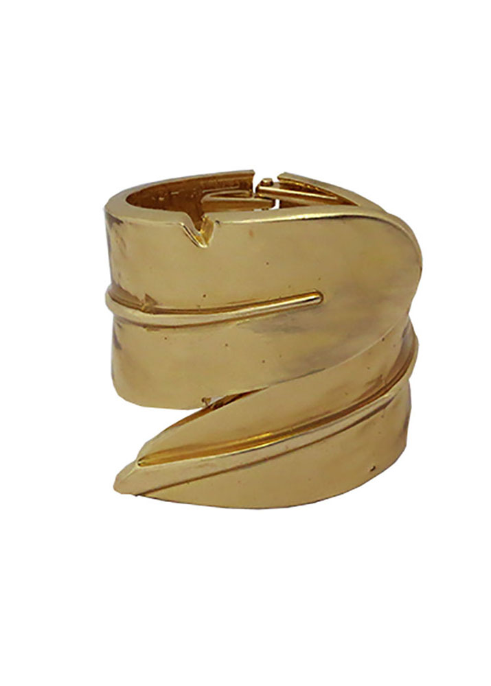Statement Gold Leaf Cuff