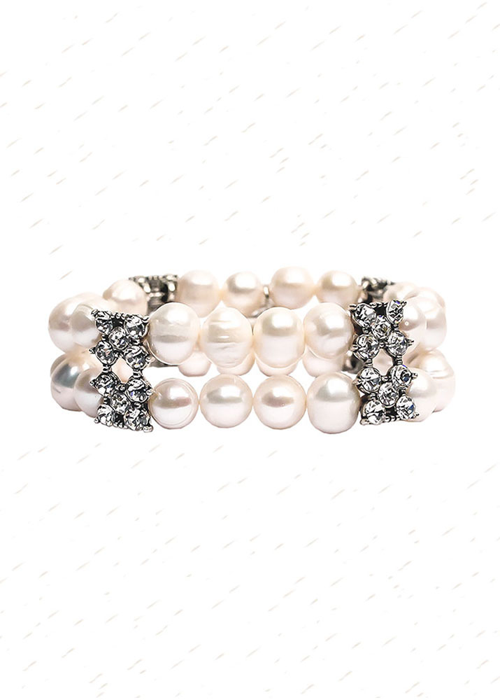 Elizabeth Pearl and Crystal Cuff