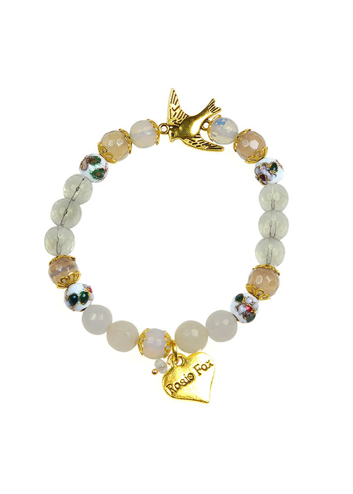 Crystal Dove Bracelet