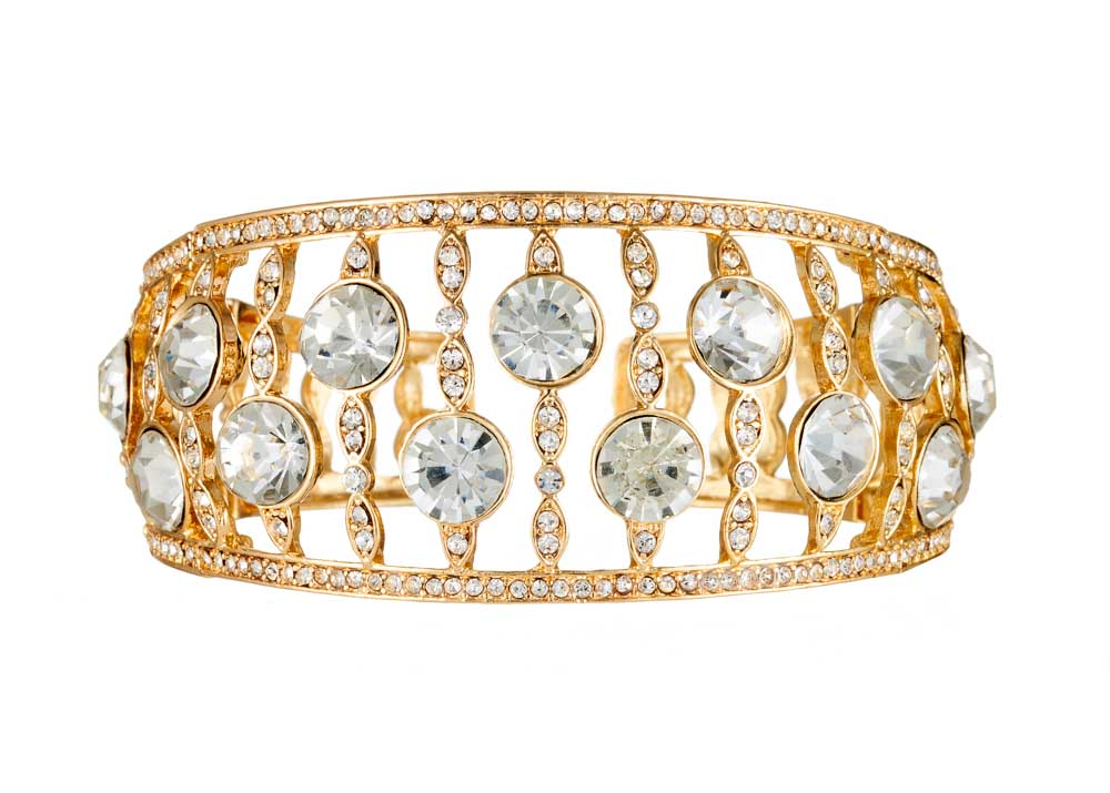 Gold Crystal Dita Cuff