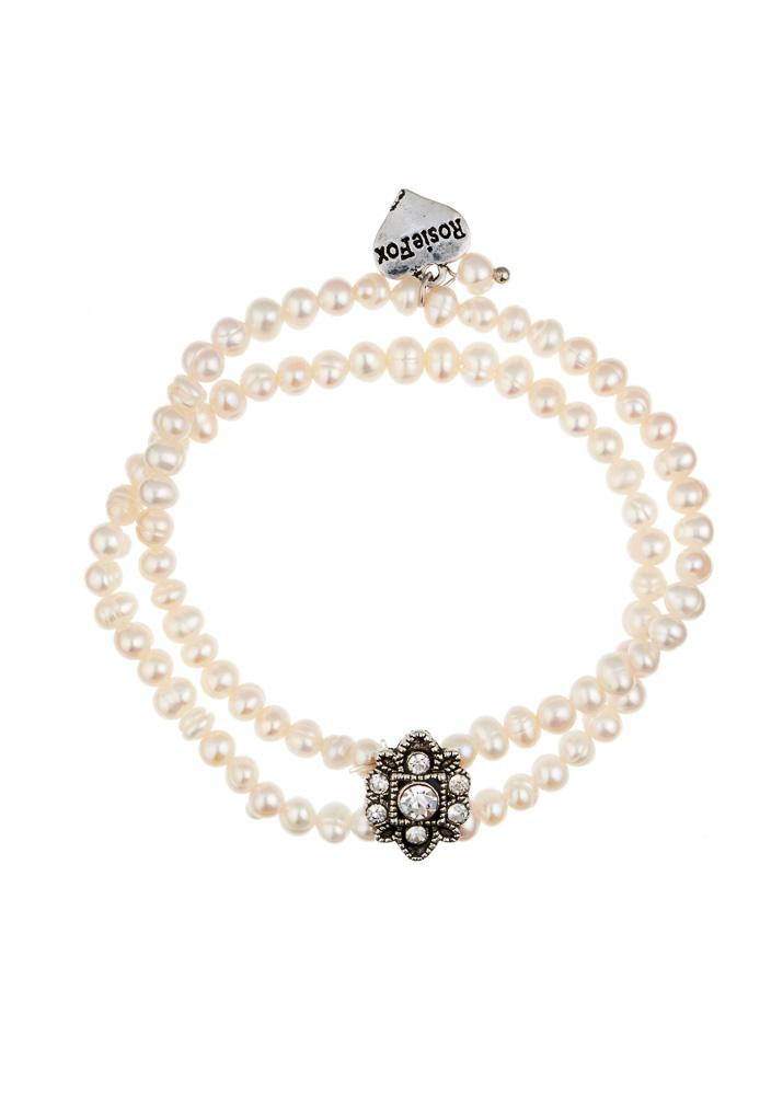 Freshwater Pearl & Crystal Cuff