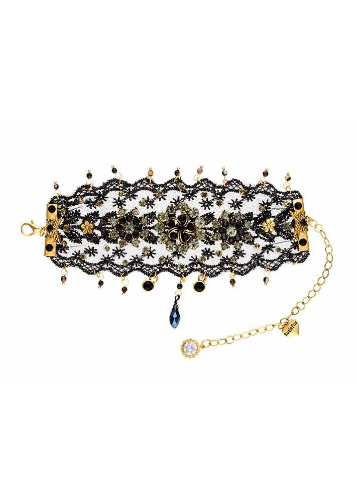 Cafe Noir Lace & Gold Cuff
