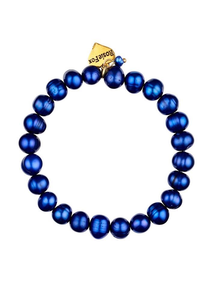 Cobalt Blue Freshwater Pearl Bracelet