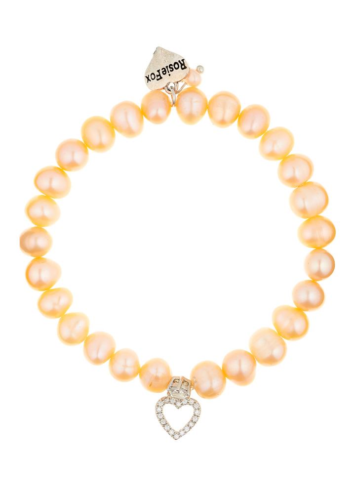 Pink Freshwater Pearl Heart Bracelet